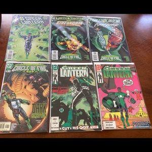 Lot of 6 green lantern comics.